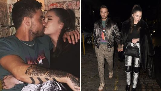 Liam Payne puckers up to girlfriend Maya Henry in cute snap and they've never looked more loved-up