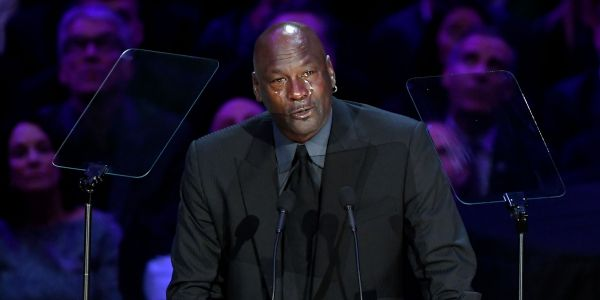 'Now he got me having to look at another crying meme for the next 3 years': Michael Jordan provided a moment of levity at the memorial service for Kobe and Gigi Bryant