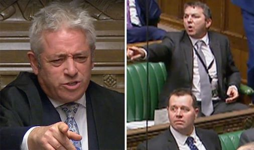 'Put it BACK!' Watch Commons UPROAR as Labour MP grabs ceremonial mace in act of protest