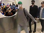 GOT7 are mobbed by fans as they arrive in Sydney for their Australian tour