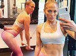 Jennifer Lopez sets pulses racing with her unreal abs as she works up a sweat