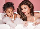 Kylie Jenner takes a bubble bath with Stormi as she continues to promote launch of Kylie Baby