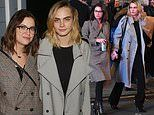 Cara Delevingne and Ashley Benson hold hands after watching Jagged Little Pill on Broadway
