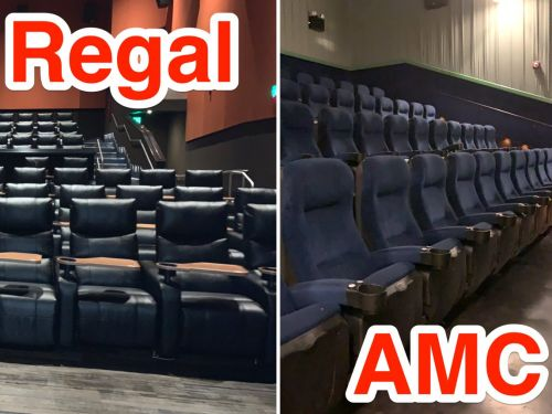 I saw the same movie at the 2 largest theater chains in the US, and preferred the one with less-comfortable seats
