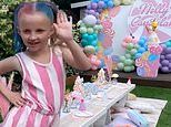 Billie Faiers throws daughter Nelly a Candyland themed sixth birthday party