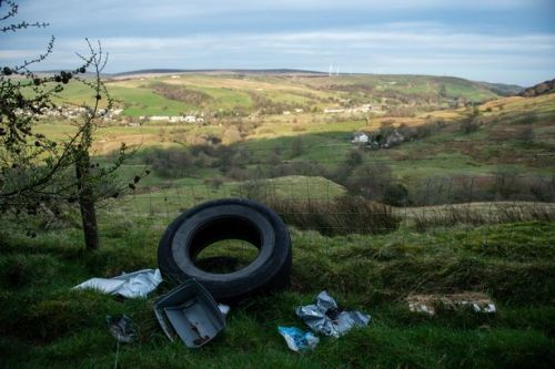 Flytippers target beauty spots with 'industrial' amounts of waste as dumps close