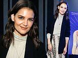 Katie Holmes flashes cute smile while attending screening of Serendipity documentary in New York