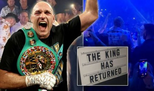 Tyson Fury leads wild Las Vegas party after emphatic Deontay Wilder victory