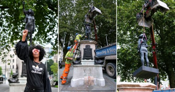 Black Lives Matter sculpture replacing Edward Colston statue removed by Bristol council