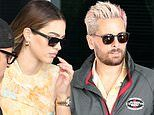 Scott Disick, 37, and Amelia Gray Hamlin, 19, are seen leaving their hotel in Miami