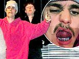 Justin Bieber gets a warm welcome arriving at church service as he posts selfie of his grill