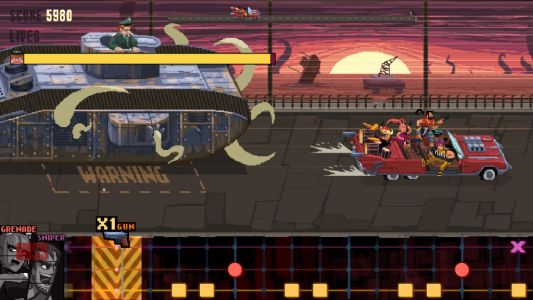 Double Kick Heroes Nintendo Switch review - rocking while rolling