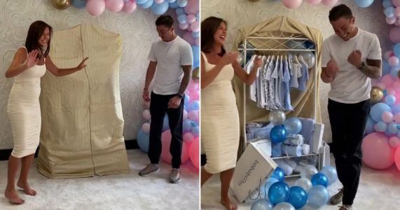 Towie's Shelby Tribble and Sam Mucklow celebrate baby news in sweet gender reveal video