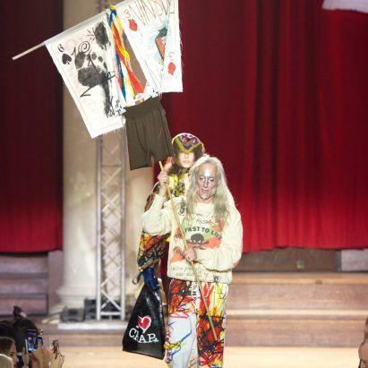 Vivienne Westwood protests climate change and consumerism with London Fashion Week show