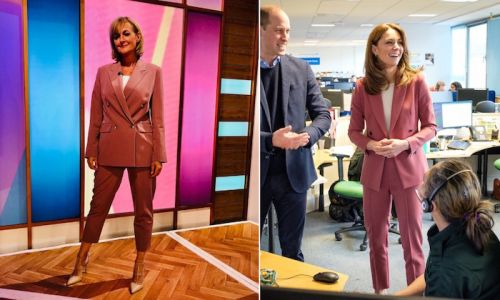 Loose Women's Jane Moore strikes a power pose in Kate Middleton-style suit - and it's a Topshop bargain