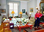 Susannah Constantine, 57, in the sitting room of her West Sussex Home