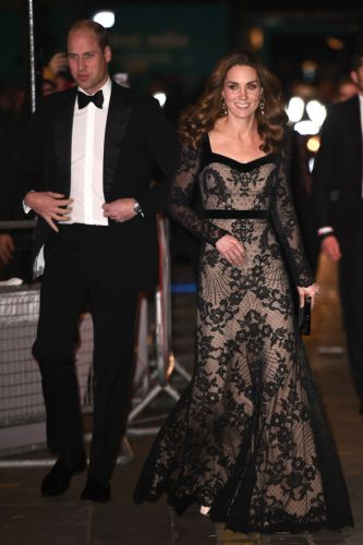 Kate Middleton stuns in black dress as she arrives with Prince William at the Royal Variety Performance