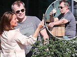 Coronation Street's Simon Gregson poses for selfies as he enjoys a quiet lunchtime pint