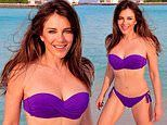 Elizabeth Hurley, 54, shares yet another sizzling snap in a purple bikini
