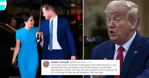 Meghan and Harry had 'no plans' to make Donald Trump pay for security