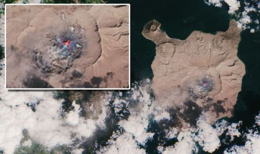 Taal volcano update: Satellite image reveals 'bright red' crater of Philippines volcano