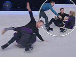 Dancing On Ice: James Jordan left shocked as he DROPS his partner on her head during rehearsals
