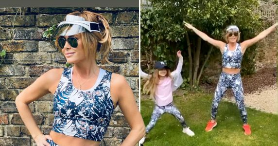 Amanda Holden twins with daughter Hollie as she smashes garden workout amid coronavirus lockdown