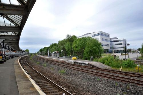 Cops race to scene after reports of man on the tracks near Kilmarnock station