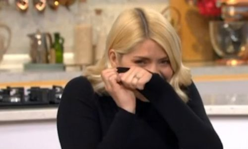 Holly Willoughby collapses into giggles over 'bizarre' Easter bunny discussion - watch