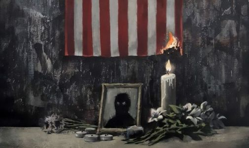George Floyd death: Banksy sets fire to US flag in new artwork inspired by Black Lives Matter