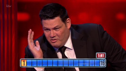 The Chase's Mark 'The Beast' Labbett punches the wall as he storms off after losing to contestants