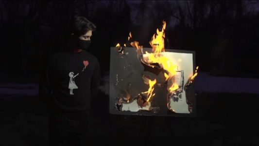 A $95K Banksy artwork has been set on fire and turned into an NFT