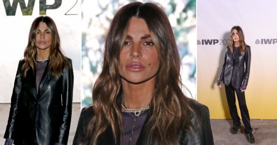 Missé Beqiri steps out for London Fashion Week prize show in first public appearance since brother's death on Christmas Eve