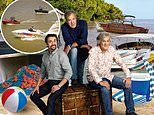 Now it's three men in a boat:There isn't a car to be seen as The Grand Tour returns