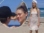 Brooklyn Beckham gazes adoringly at slip dress-clad girlfriend Nicola Peltz