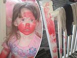 Toddler steals her mother's lipstick and wreaks havoc on their house in hilarious video