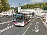 Bus driver is left brain dead after he was beaten up for insisting on masks in France