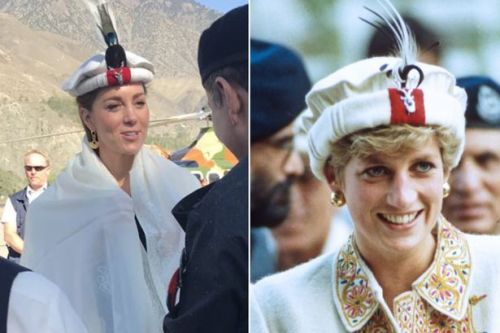 Kate Middleton wears traditional hat similar to Diana's on Pakistan royal tour