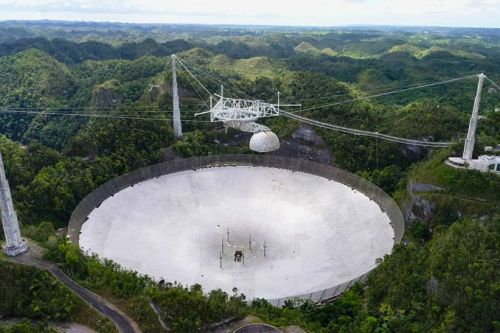 Iconic Arecibo Observatory undergoing detailed structural inspections