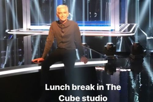 Phil Schofield teases behind-the-scenes snaps as he films new series of The Cube