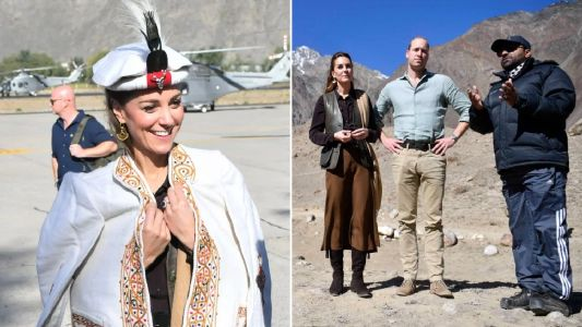 Kate and William visit mountain-top glacier to see impact of climate change