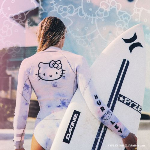 Hurley just got a sweet Hello Kitty twist