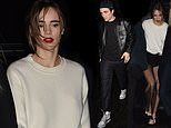 Suki Waterhouse joins beau Robert Pattinson at the Dior afterparty amid engagement rumours