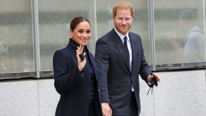 Meghan and Harry just made their first public appearance since the arrival of baby Lilibet