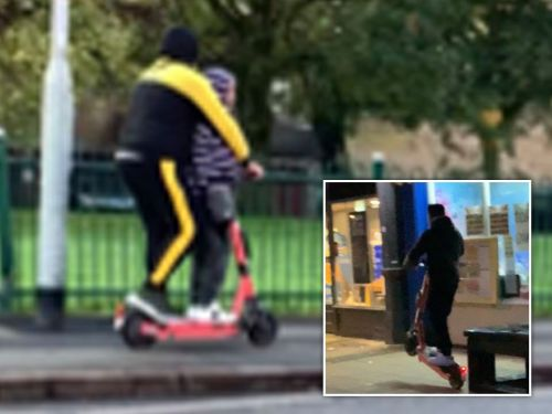 E-scooter menaces pop wheelies 'and ride at pedestrians' in shocking dossier
