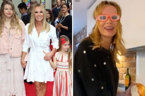 Amanda Holden's daughter takes hilarious video of her cooking in googles