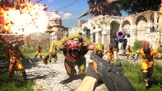 """Serious Sam 4 has three shotguns because """"if it's fun, we're going to include it"""""""