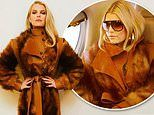 Jessica Simpson sports a faux fur coat after adding security to her team following anti-fur protests