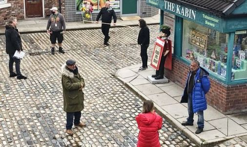 Coronation Street filming comes to halt as crew banned from set for two weeks due to COVID
