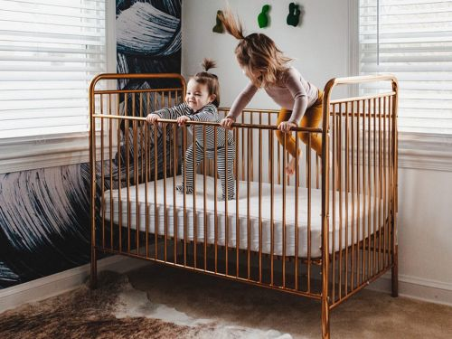 This convertible crib exceeds national safety standards and looks good - it's the perfect piece if you want something that you can convert to a toddler or day bed